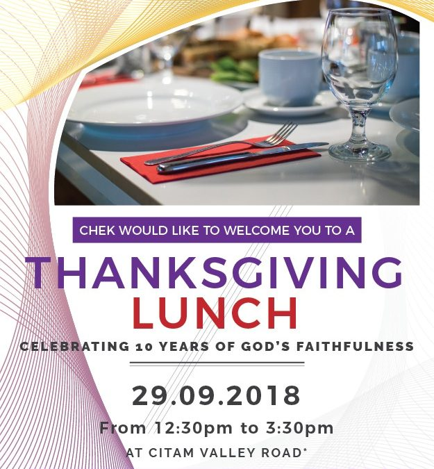 CHEK Thanks Giving Luncheon